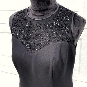 Jones New York Black Beaded Dress, Size 8
